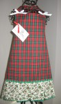 tartan box pleat