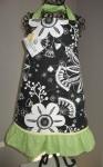 black floral w/lime
