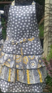 We love this set of grey and yellow fabrics