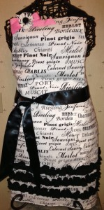 Black andn white wine script with fancy removable bow