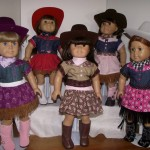 Rodeo outfits with hats and boots